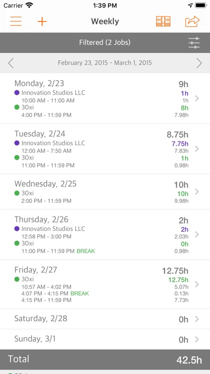 Easy Hours Lite screenshot-4