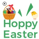 Animated Cute Happy Easter Egg