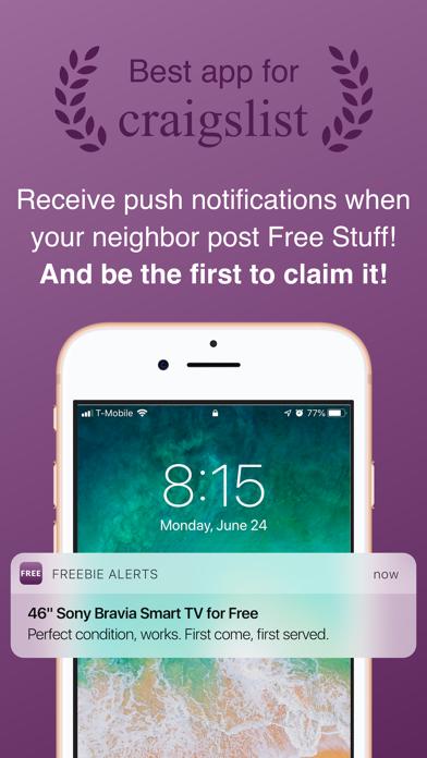 Freebie Alerts for Craigslist Screenshot
