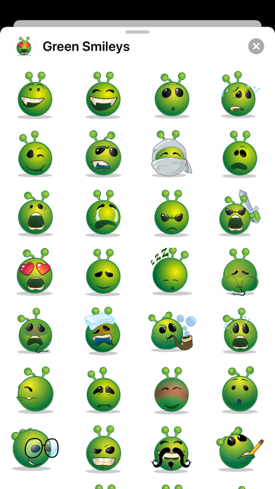 Green Smiley Emoji Stickers Screenshot