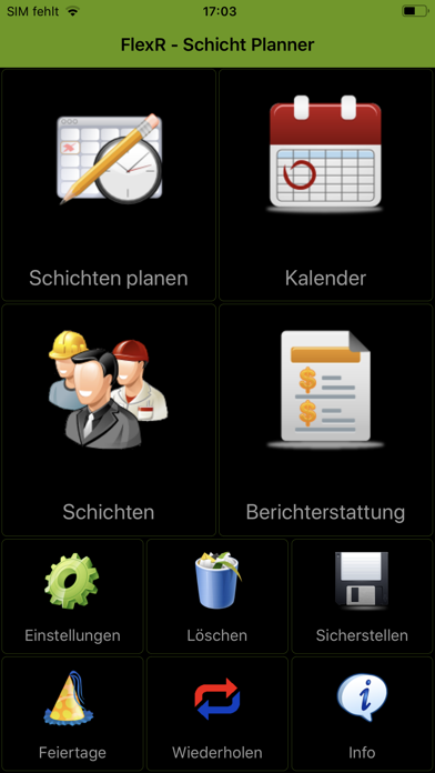 Screenshot for FlexR (Schicht planer) in Austria App Store
