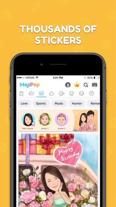 MomentCam – Customized Cartoons and GIFs screenshot