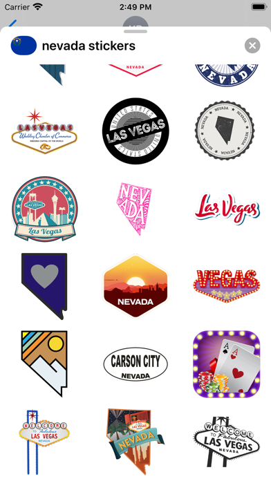 Nevada emojis - USA stickers screenshot 2