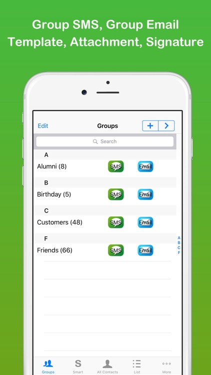 Smart Group: Email, SMS/Text screenshot-0