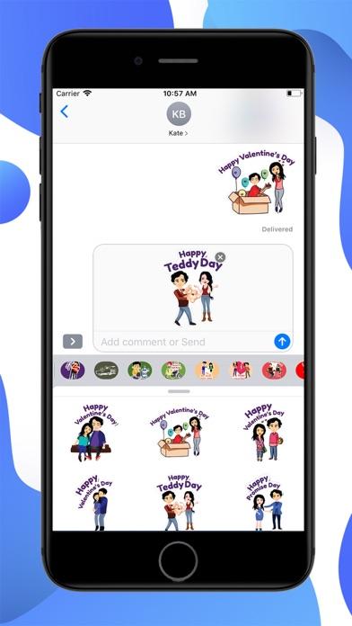 Valentine Special Stickers screenshot 3