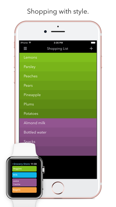 Screenshot #1 pour Picky - Grocery Shopping List