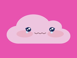We would like to introduce Pink cloud emoji sticker for iMessage, It is amazing collection stickers in iPhone and iPad to Chat funny with friends