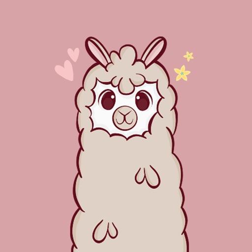 Fluffy Alpaca Stickers