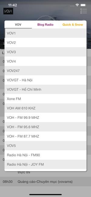 V-Radio: VOV, Xone FM, VOV GT