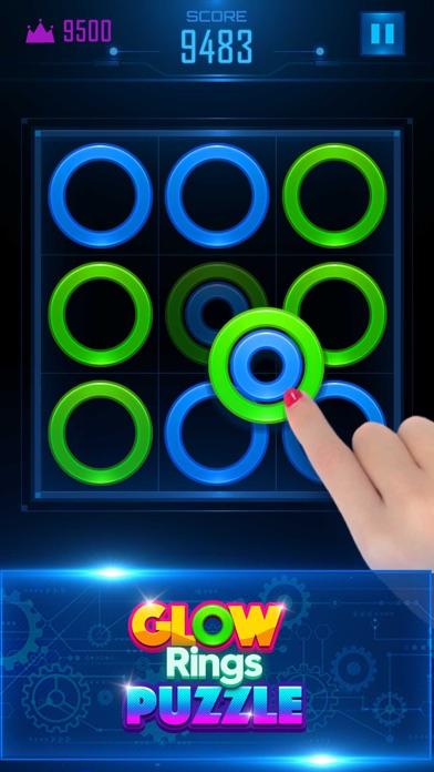 Glow Rings Puzzle screenshot four