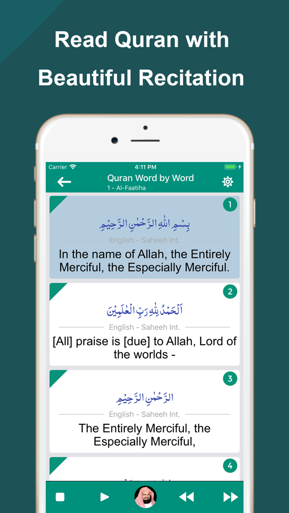 Quran Word by Word Translation App for iPhone - Free Download Quran