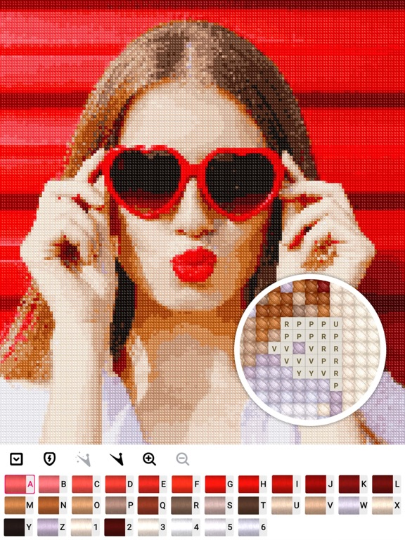 Cross stitch : Color by Letter screenshot 7