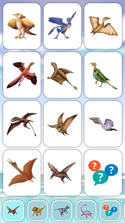 Cards of Dinosaurs for Toddler
