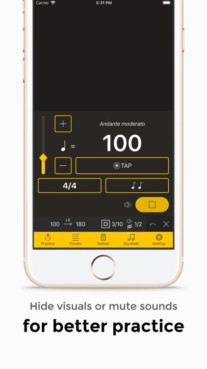 Andante Metronome - Tempo App