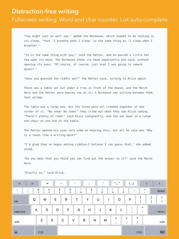 Screenshot #5 pour iWriter