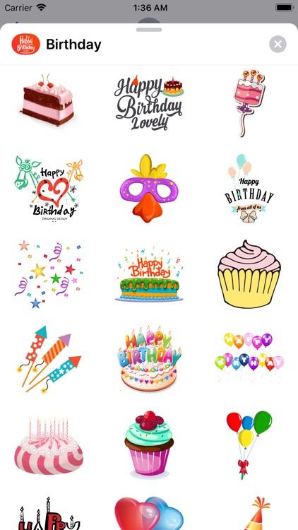 200+ Birthday MEGA Sticker App screenshot-3