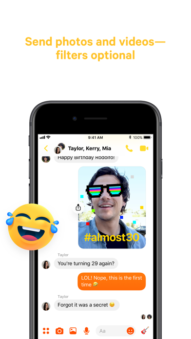 Messenger review screenshots