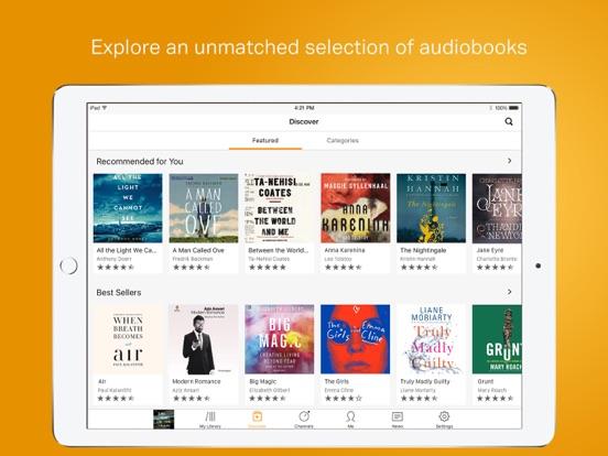 Screenshots for Audible audiobooks & originals