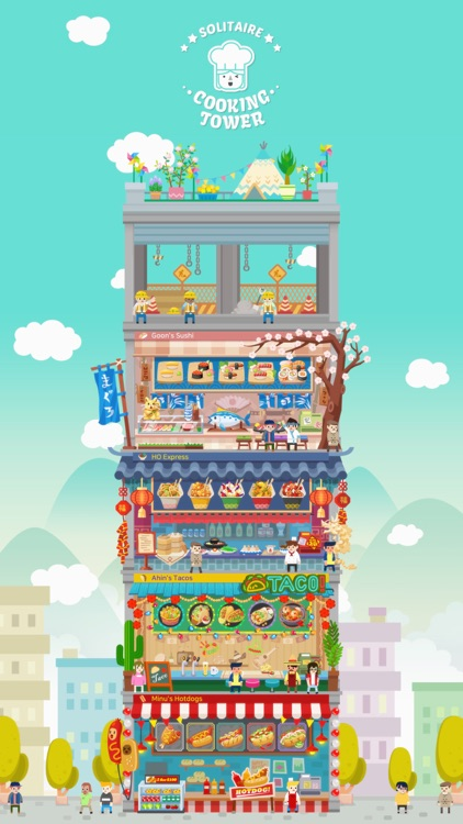 Solitaire Cooking Tower screenshot-4
