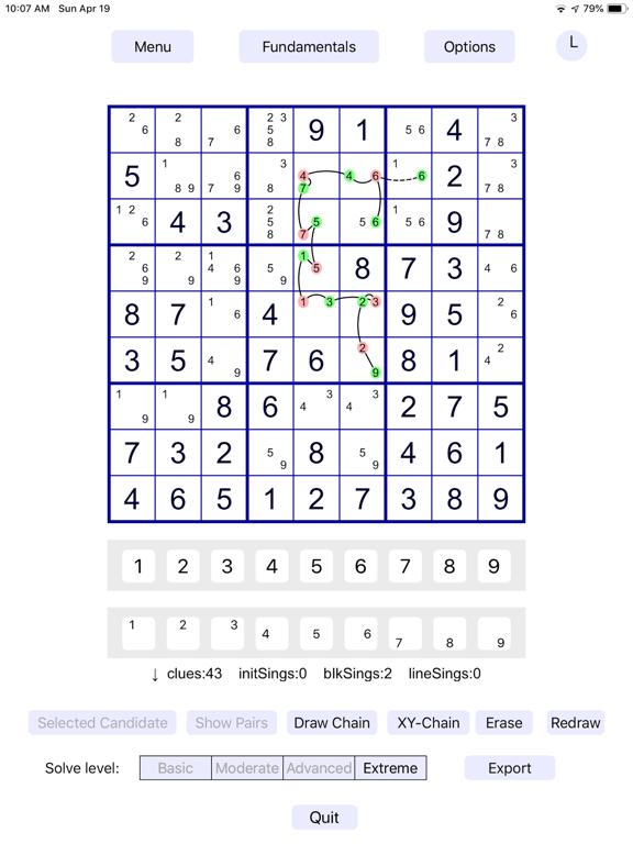 Sudoku Fundamentals screenshot