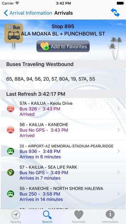 DaBus2 - The Oahu Bus App screenshot-3