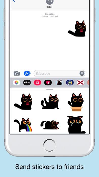 Black cat stickers - Funny emo screenshot 4