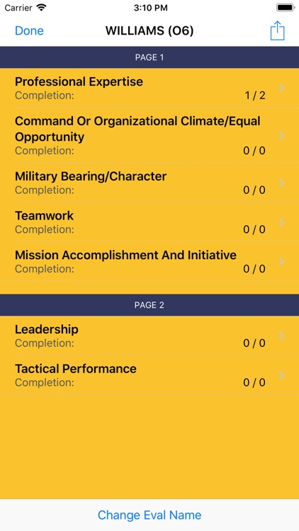 Eval Builder for the US Navy screenshot-3