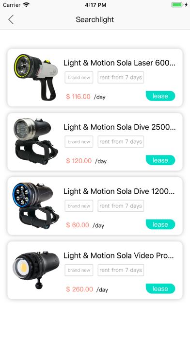 Diving Equipment Rental screenshot #2