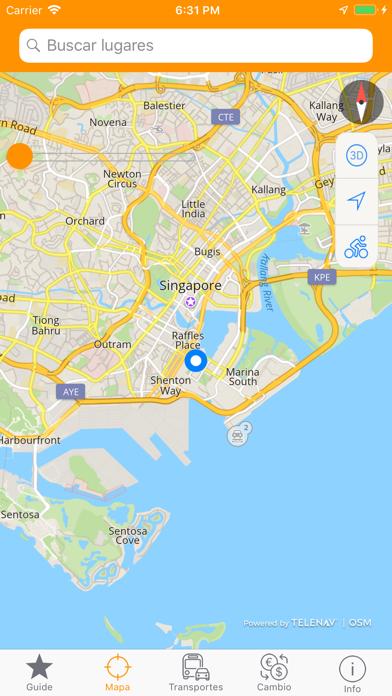Singapur Mapa y Guía de ViajeCaptura de pantalla de3