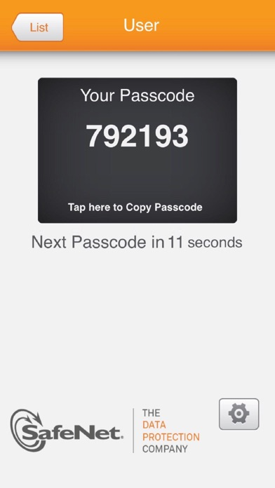 Screenshot #1 pour SafeNet MobilePASS