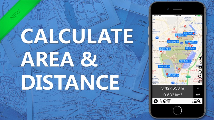 Area & Distance - Map Measure