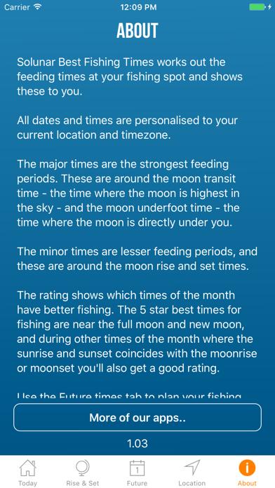 Solunar Best Fishing Timesのおすすめ画像5