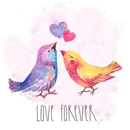 Watercolor Beautiful Birds