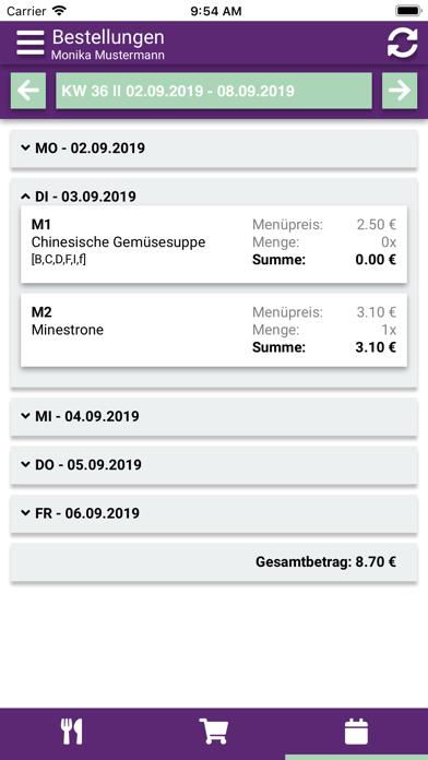 Aubergine Menü screenshot 4