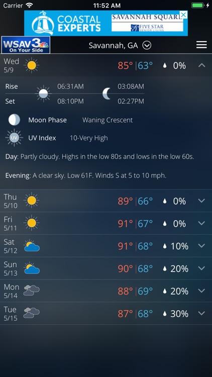 WSAV Weather screenshot-4