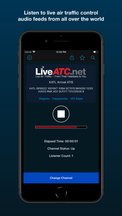 LiveATC Air Radio Screenshot
