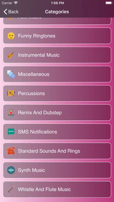 Ringtones ⋆ Screenshot