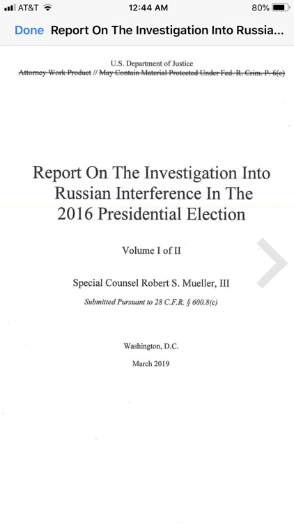 The Mueller Report Easy Reader