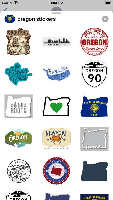 Oregon emojis - USA stickers screenshot 2