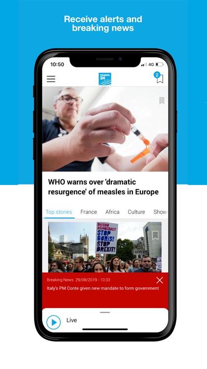 France 24 - World News 24/7 screenshot-4