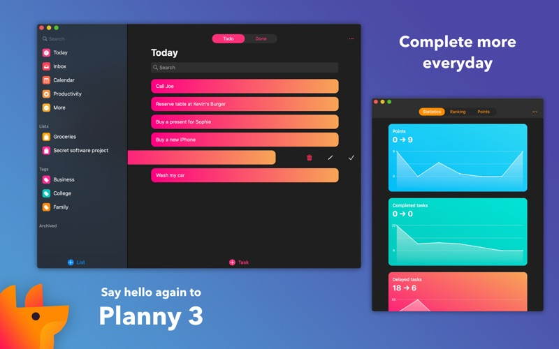 Planny 3 - Smart To Do List for Mac