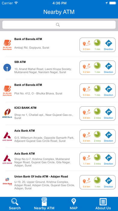 Nearest ATM Locator screenshot two