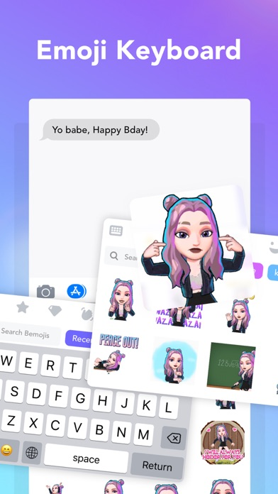 3D Avatar Creator | Bemoji Screenshot