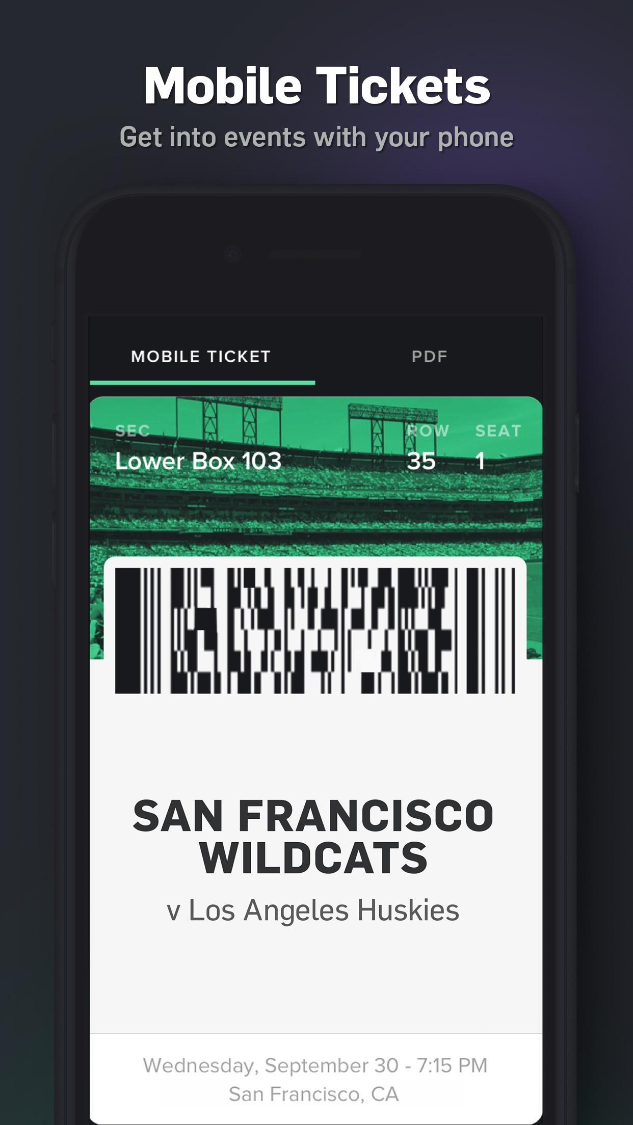 Gametime - Last Minute Tickets Screenshot