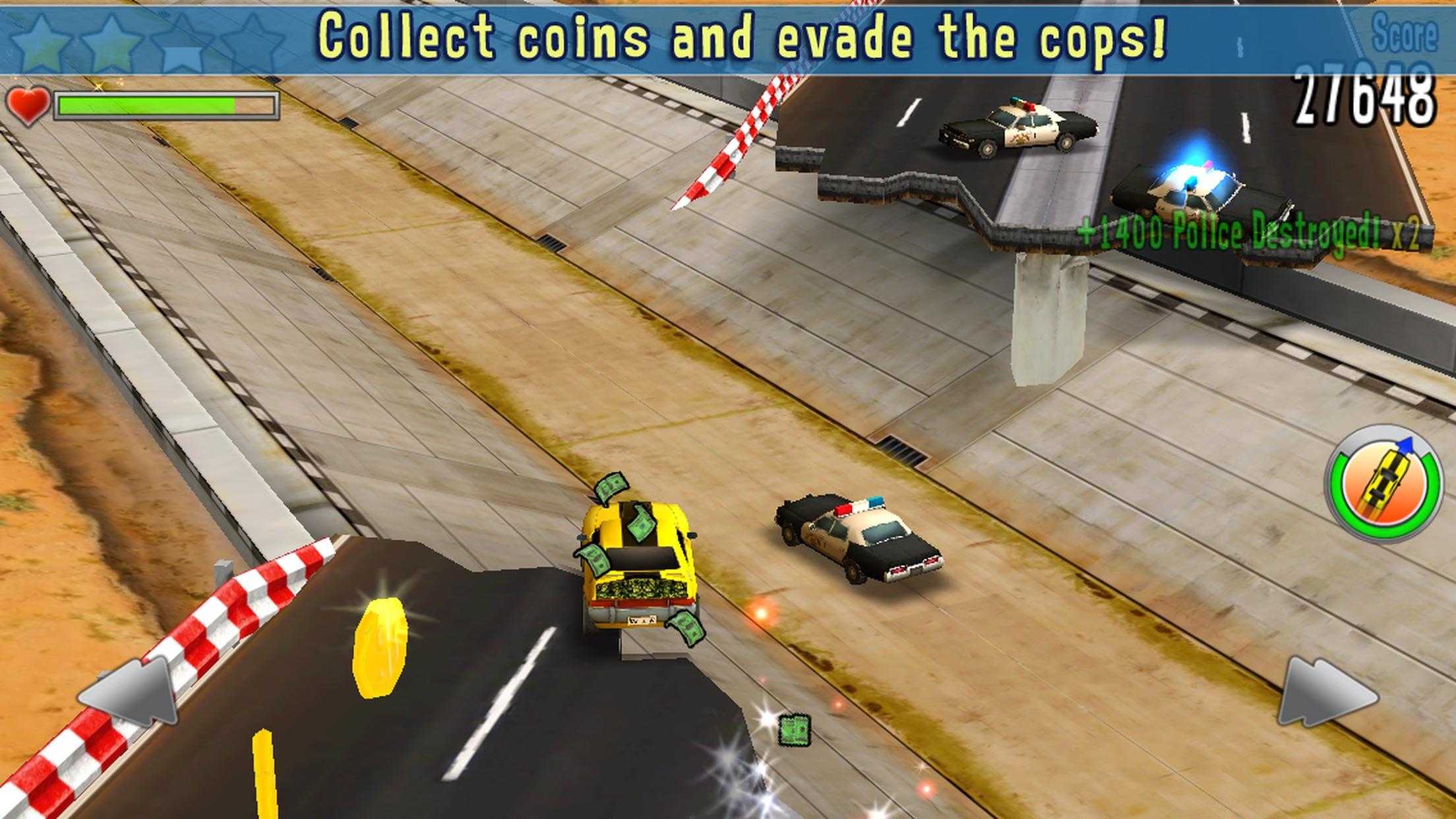 Screenshot do app Reckless Getaway