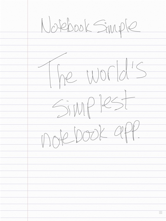 Notebook Simple