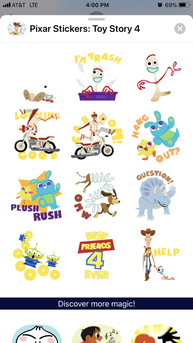 Pixar Stickers: Toy Story 4 screenshot 2