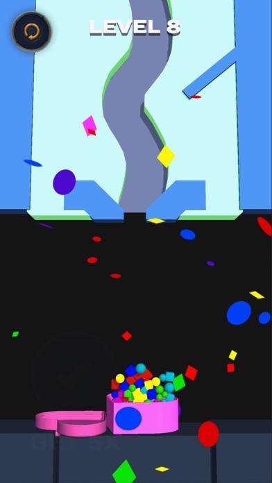 Falling balls: draw the path