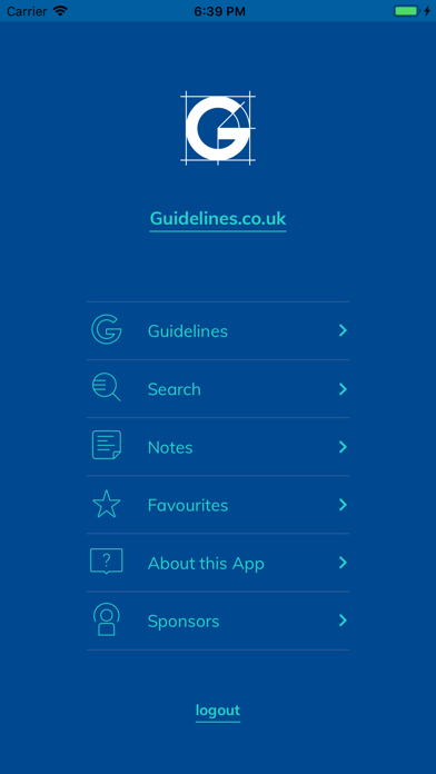 Guidelines screenshot one