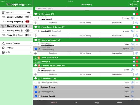 Shopping Pro (Grocery List) screenshot